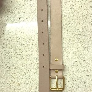 Taupe and gold belt